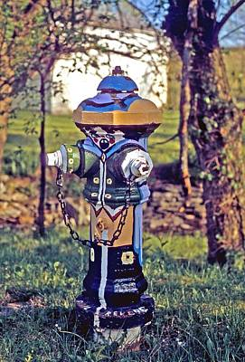 Poster featuring the photograph Oldenburg Fireplug by Gary Wonning