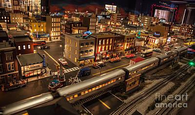 Oldtown Model Railroad Depot Poster by Richard Smukler