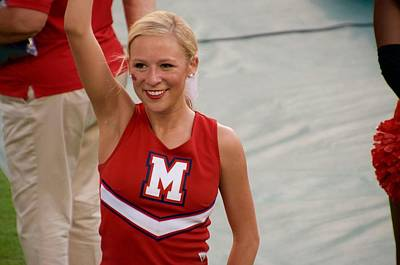 Ole Miss Cheerleader Smiling Poster