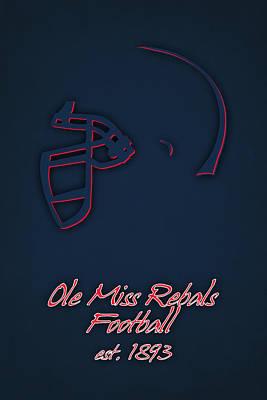 Ole Miss Rebels Helmet 2 Poster