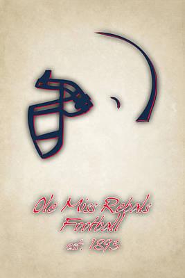 Ole Miss Rebels Helmet Poster by Joe Hamilton