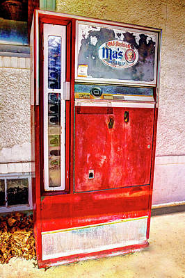 Ole Tyme Vending Machine Poster by Geraldine Scull