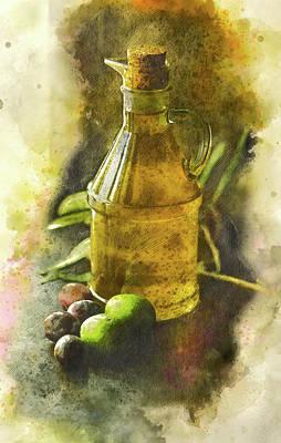 Olive Oil Poster by Brigitte Werner