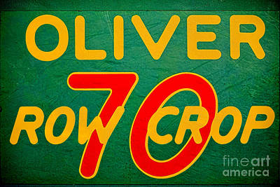 Oliver 70 Row Crop Poster by Olivier Le Queinec