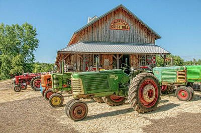 Oliver Row Crop At Unionville Grist Mill 2 Poster