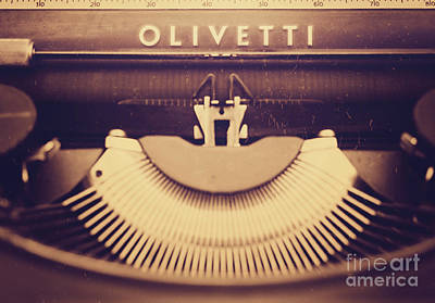 Olivetti Typewriter Poster by Giuseppe Esposito