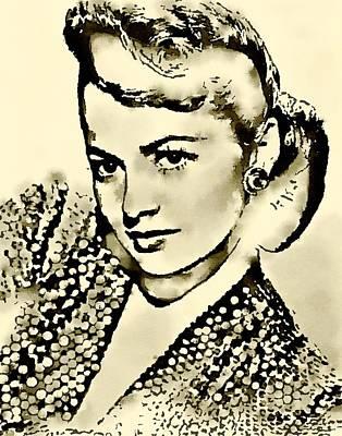 Olivia De Haviland By John Springfield Poster