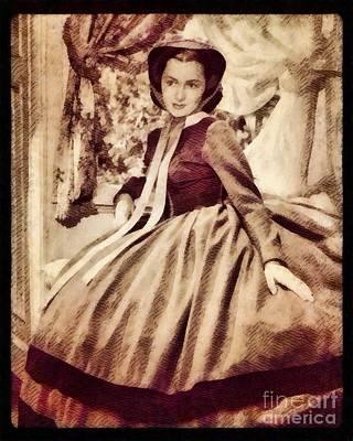 Olivia De Havilland, Hollywood Legend By John Springfield Poster