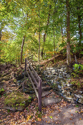 Poster featuring the photograph Olmsted Falls Staircase by Lon Dittrick