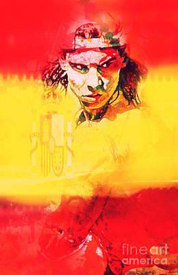 Olympia 2016 Hereos Rafael Nadal Poster