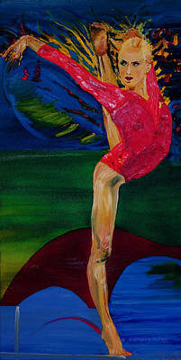 Olympic Gymnast Nastia Liukin  Poster