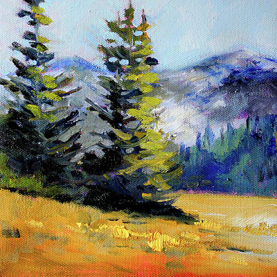 Poster featuring the painting Olympic Range by Nancy Merkle