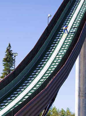 Olympic Ski Jump Training Poster