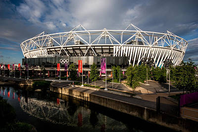 Olympic Stadium Poster by Dawn OConnor