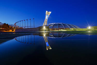 Olympic Stadium Reflection Poster by Mircea Costina Photography