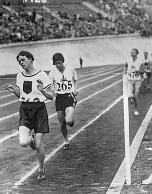 Olympic Women's 800 Meter Race Poster