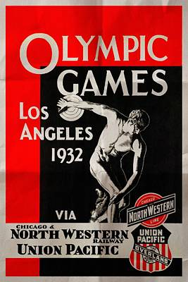 Olympic Games Los Angeles 1932 - Folded Poster