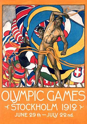 Olympic Games Stockholm 1912 - Restored Poster