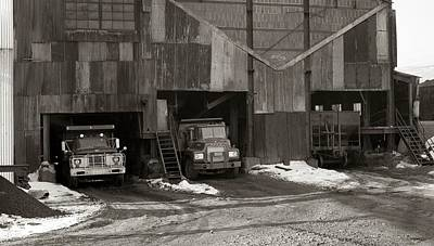 Olyphant Pa Coal Breaker Loading Trucks And Gondola Car Winter 1971 Poster