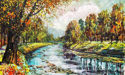 Olza River Poster