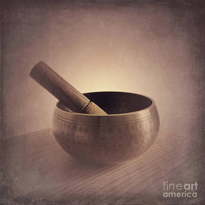 Poster featuring the photograph Om Singing Bowl by Chris Scroggins