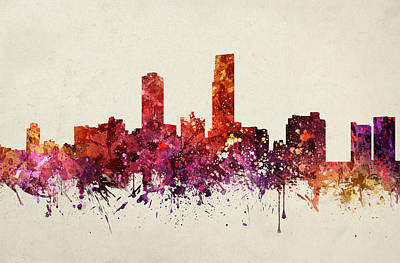 Omaha Cityscape 09 Poster by Aged Pixel