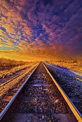 Poster featuring the photograph On A Train Bound For Nowhere by Phil Koch