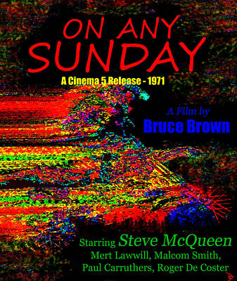 On Any Sunday Retro Poster Poster