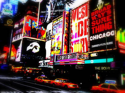 On Funky Broadway  Poster by Funkpix Photo Hunter