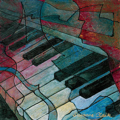 On Key - Keyboard Painting Poster