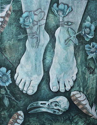 Poster featuring the mixed media On Sacred Ground by Sheri Howe