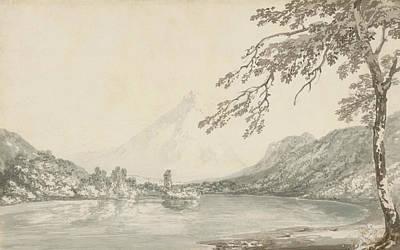 On The Aar Between Unterseen And Lake Of Brienz  Poster