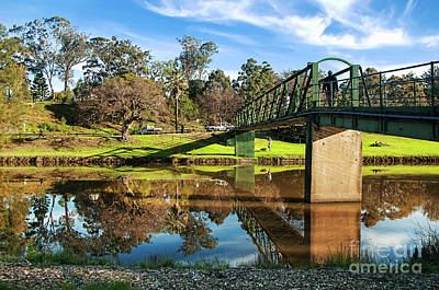 Poster featuring the photograph On The Banks Of The River By Kaye Menner by Kaye Menner