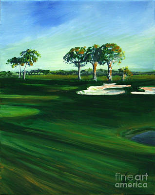 On The Fairway Poster by Michele Hollister - for Nancy Asbell