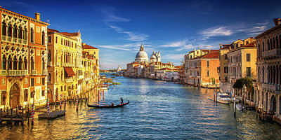On The Grand Canal Poster by Andrew Soundarajan