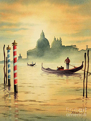 On The Grand Canal Venice Italy Poster