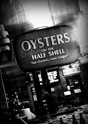 On The Half Shell - Bw Poster