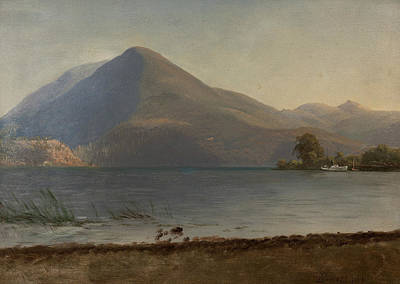 On The Hudson Poster by Albert Bierstadt