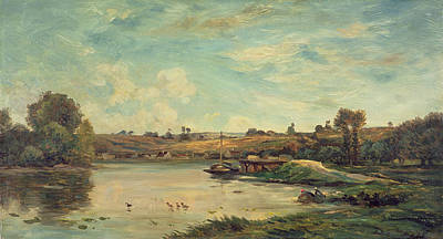 On The Loire Poster by Charles Francois Daubigny