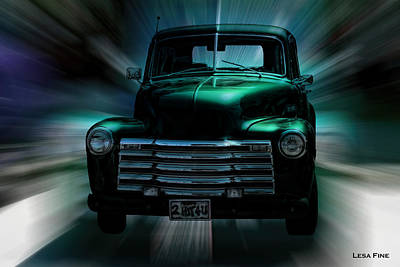 On The Move Truck Art Poster