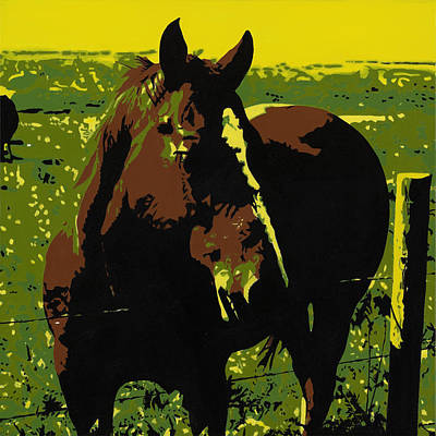 On The Range - Red Poster by Sonja Olson