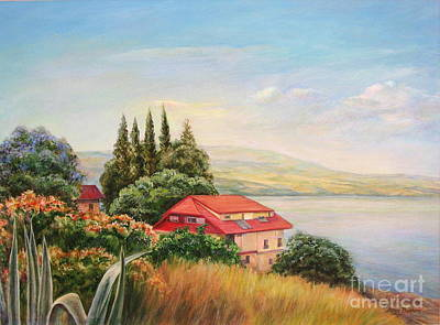 On The Shore Of The Kinneret Poster by Maya Bukhina