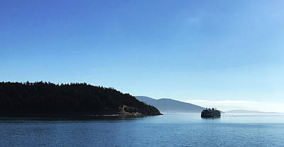 Poster featuring the photograph On The Way To Orcas by Lorraine Devon Wilke