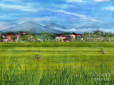 Poster featuring the painting On The Way To Ubud 3 Bali Indonesia by Melly Terpening