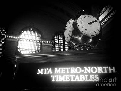 On Time At Grand Central Station Poster