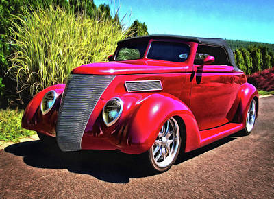 One Cool 1937 Ford Roadster Poster