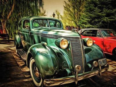 One Cool 1937 Studebaker Sedan Poster