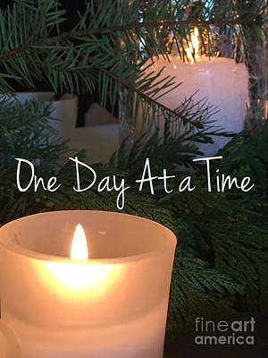 One Day At A Time Poster by Jenny Revitz Soper