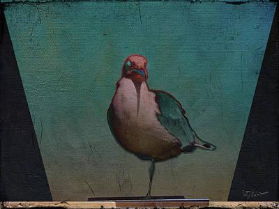 One-legged Gull Poster by Linda Dunn