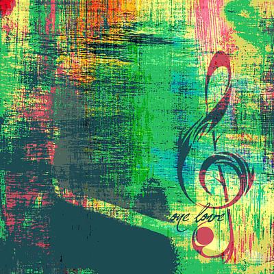 One Love Bob Marley Poster by Brandi Fitzgerald